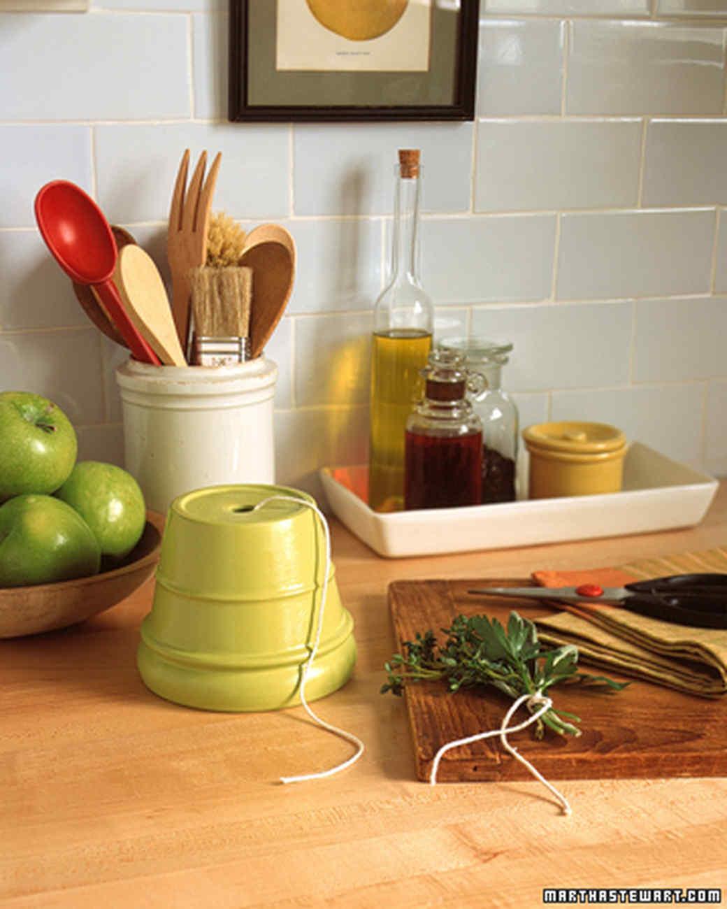 Kitchen Counter With Food Kitchen Organizers  Martha Stewart