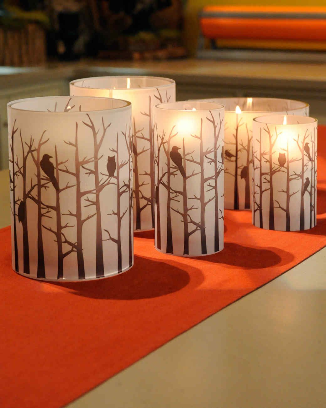 Halloween Hurricane Candleholders