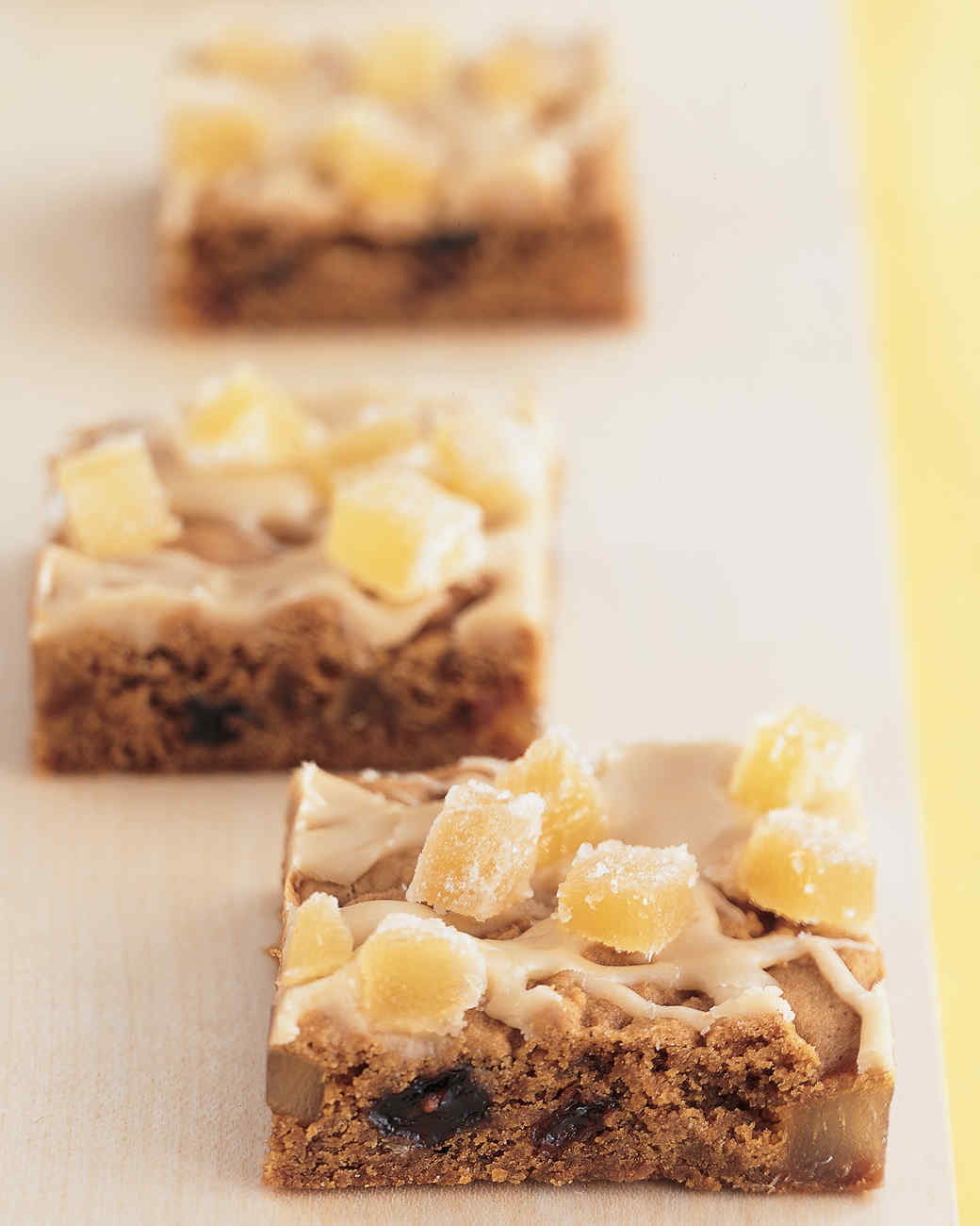 Hermit Bars with Brown-Sugar Icing and Candied Ginger