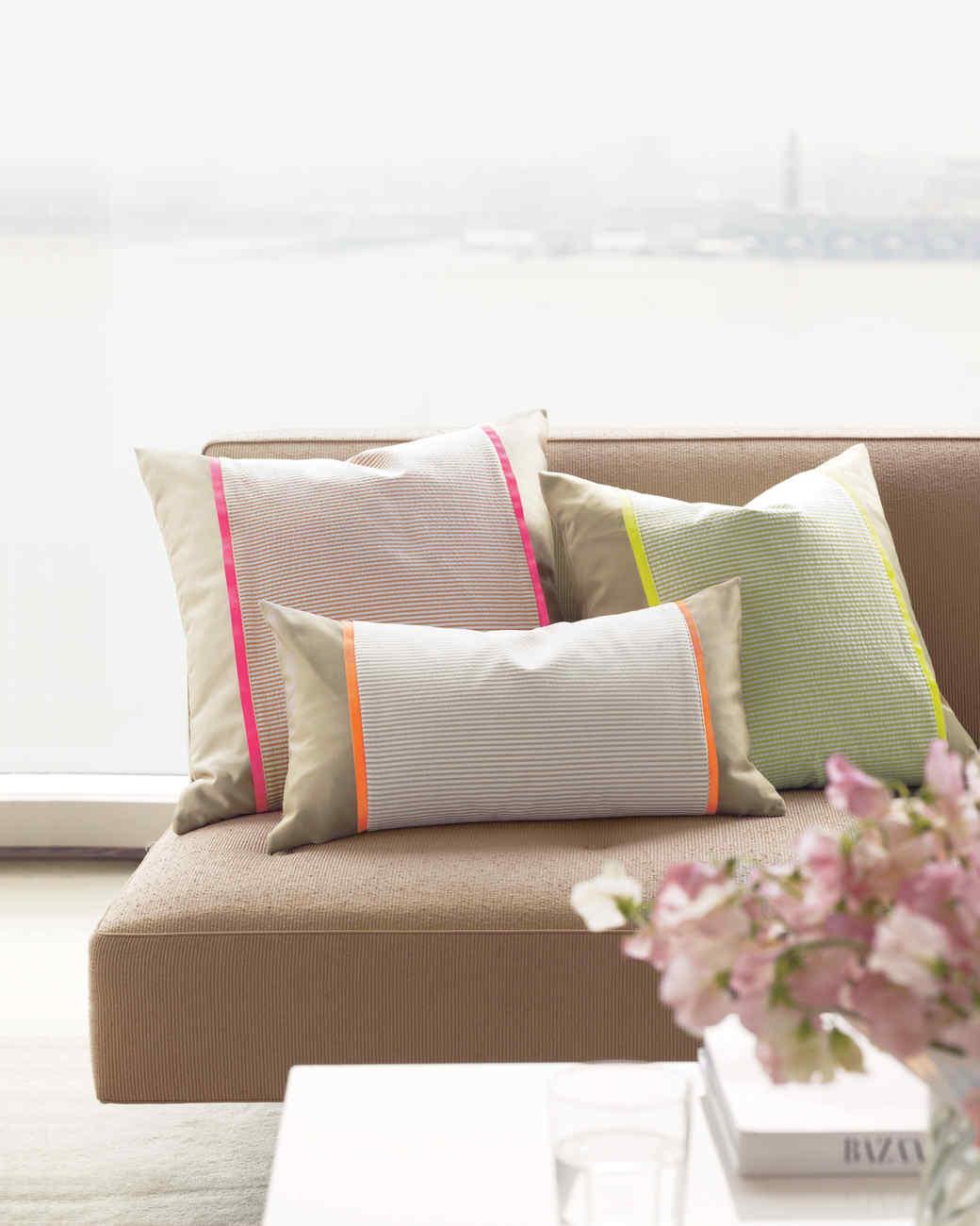 Seersucker Pillow Sleeve