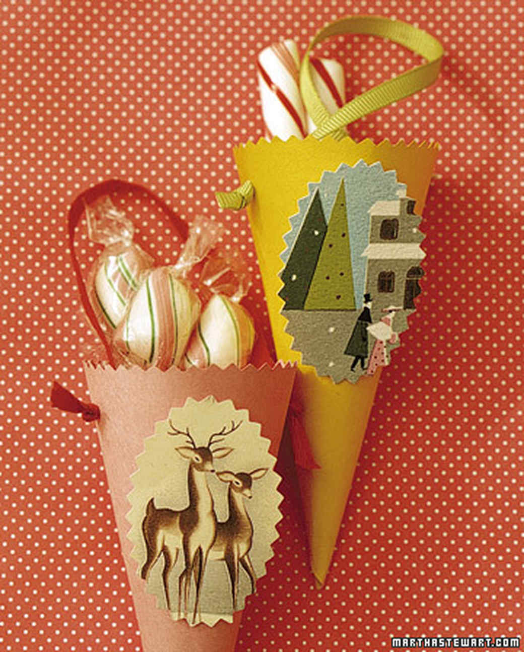 holiday card cones