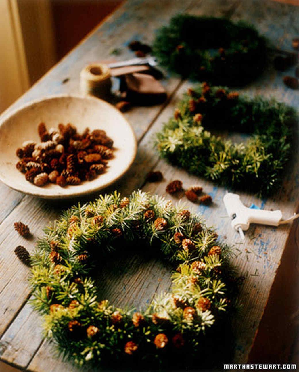 Pinecone-Studded Wreath