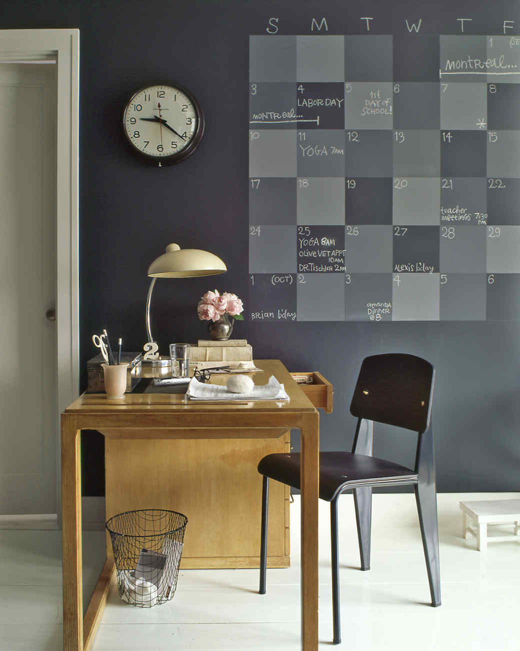 Calendar Ideas For Home : Chalkboard paint home helpers martha stewart