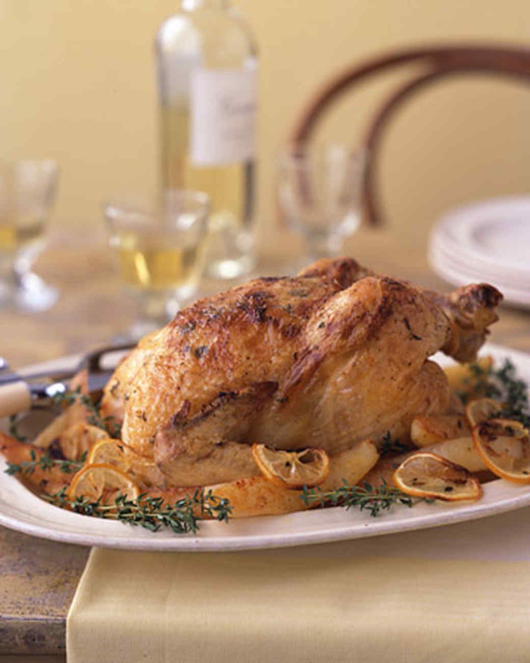 Lemon-Roasted Chicken with Potatoes