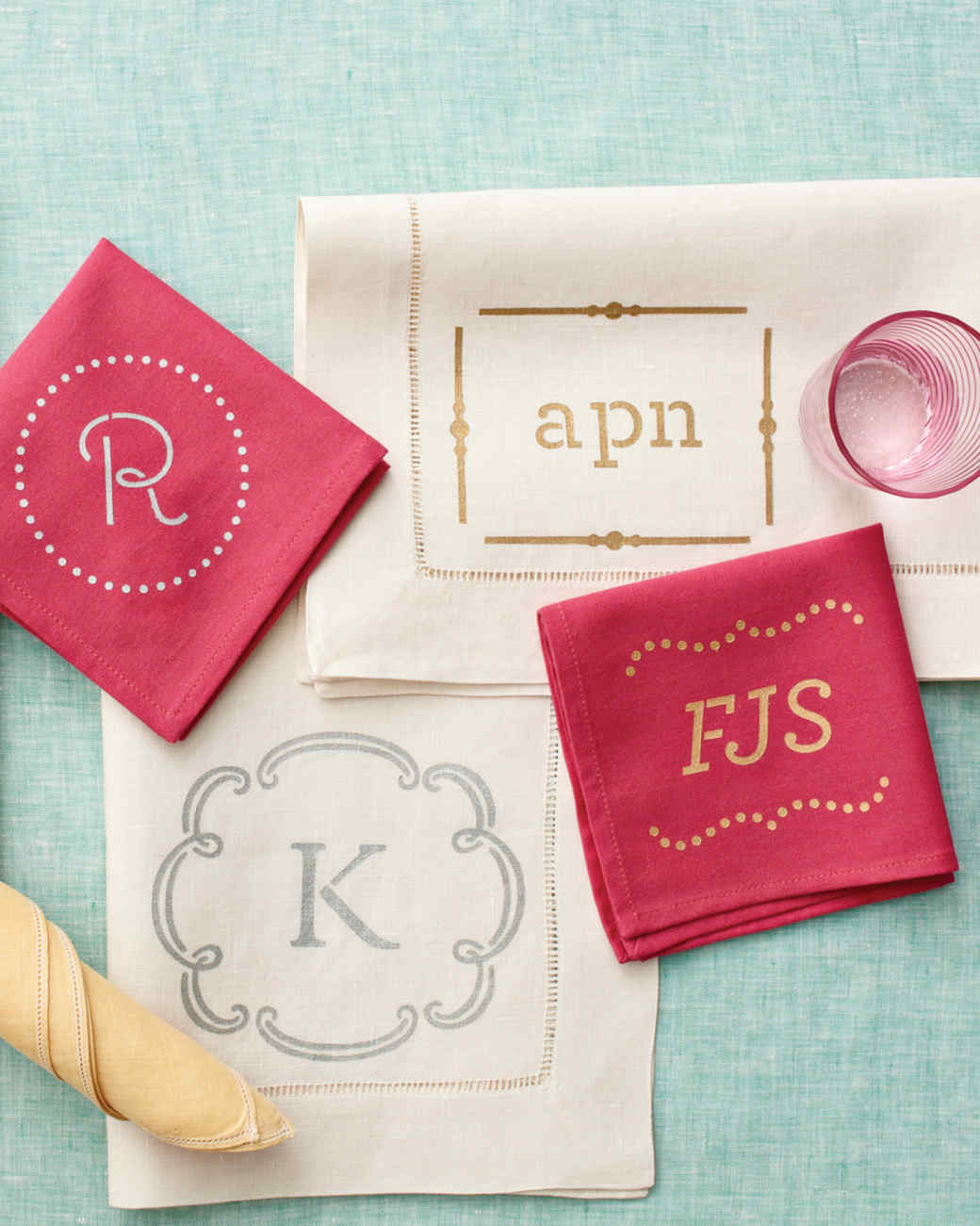 Monogrammed Table Linens And Napkins