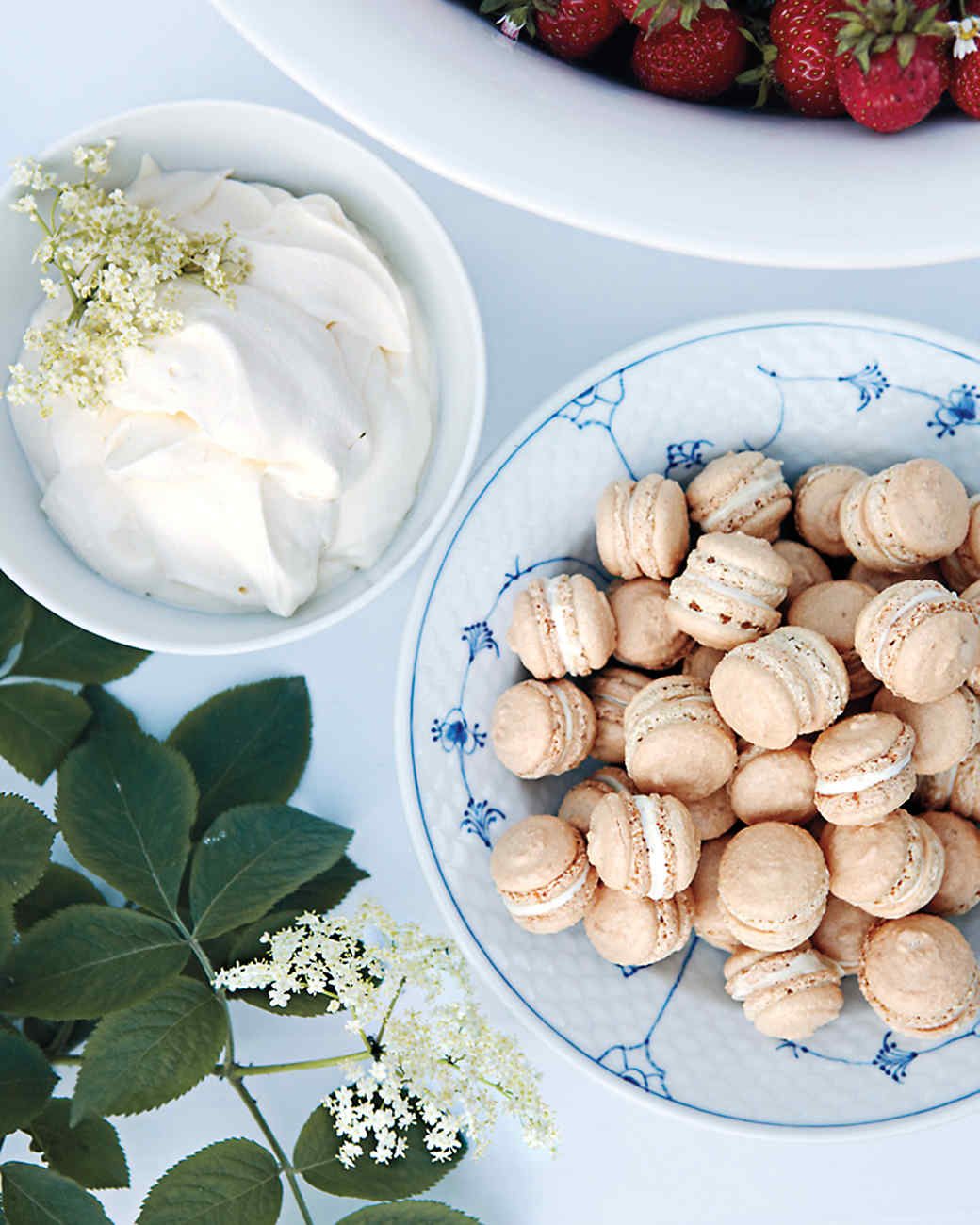 Toasted-Almond Macarons with White Chocolate