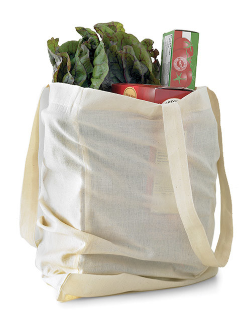 groceries in reusable bag vegetables