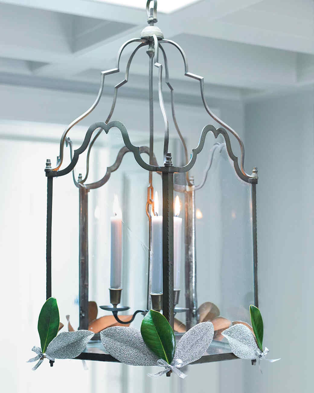 Leaf embellished chandelier martha stewart leaf embellished chandelier aloadofball Gallery