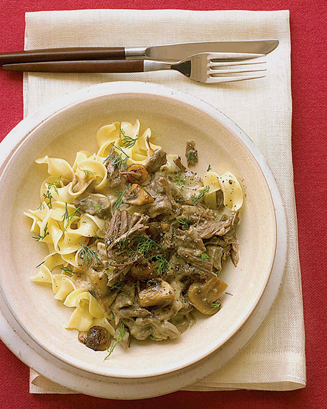 Classic Beef Stroganoff Recipe | Martha Stewart