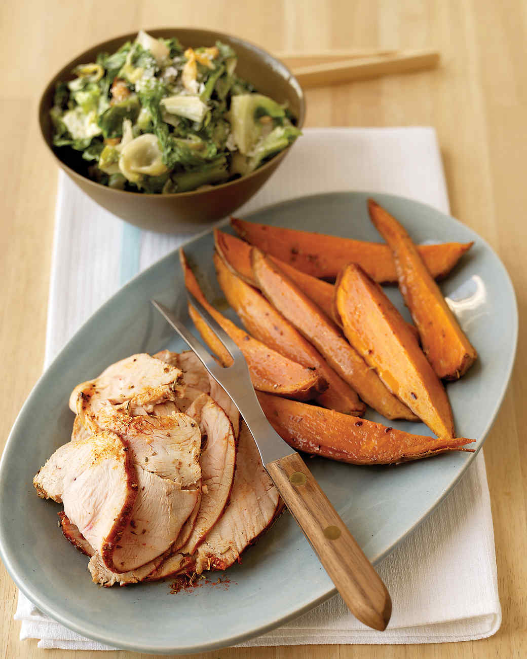 Spice-Rubbed Turkey Breast with Sweet Potatoes