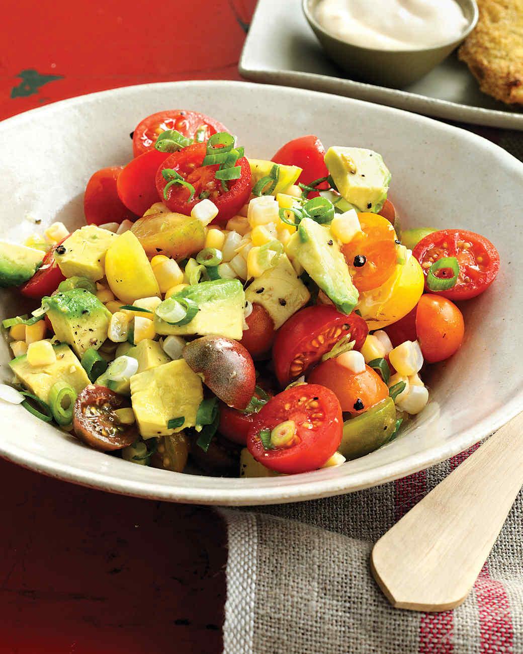 Tomato, Corn, and Avocado Salad