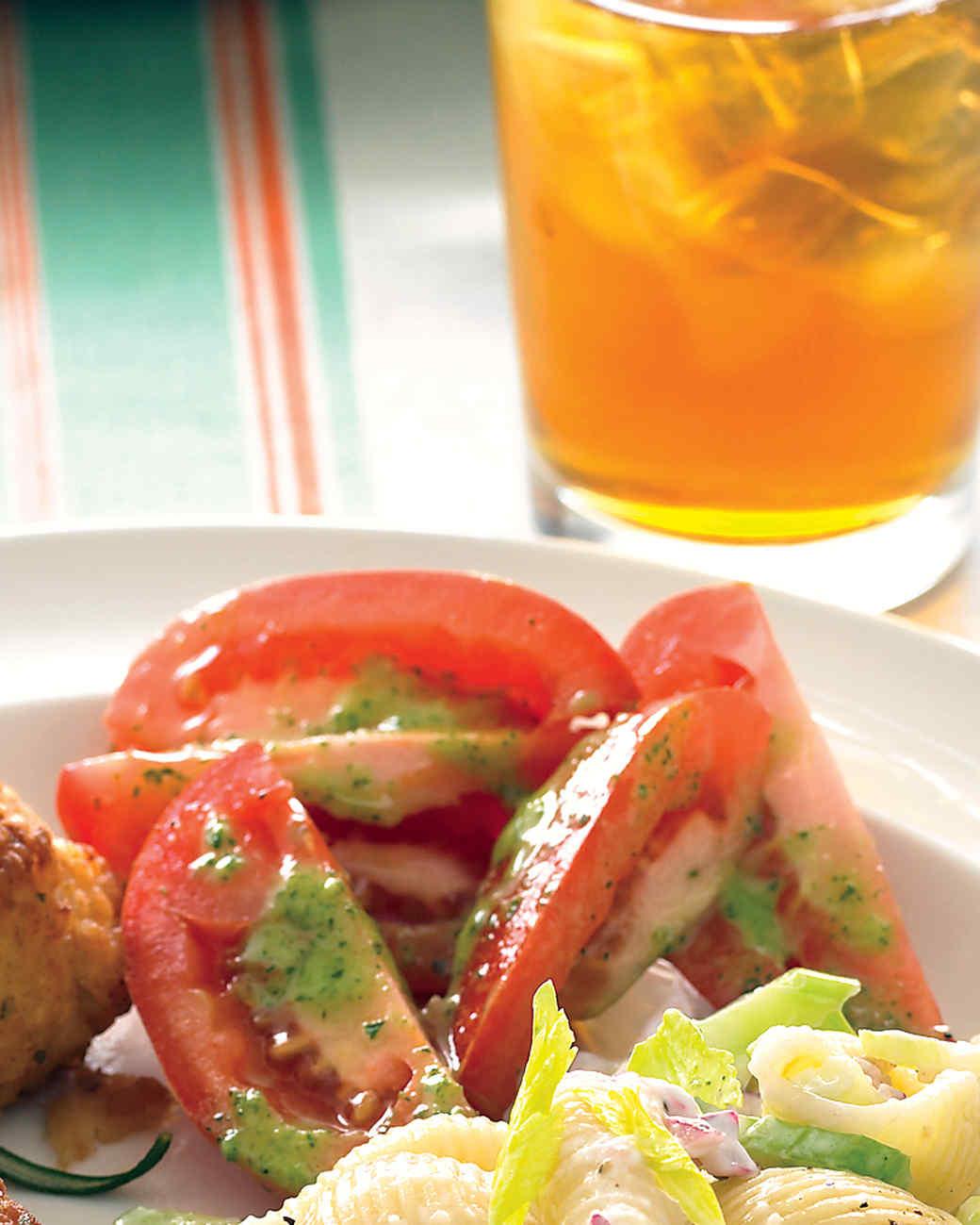 Tomato Salad with Parsley Vinaigrette