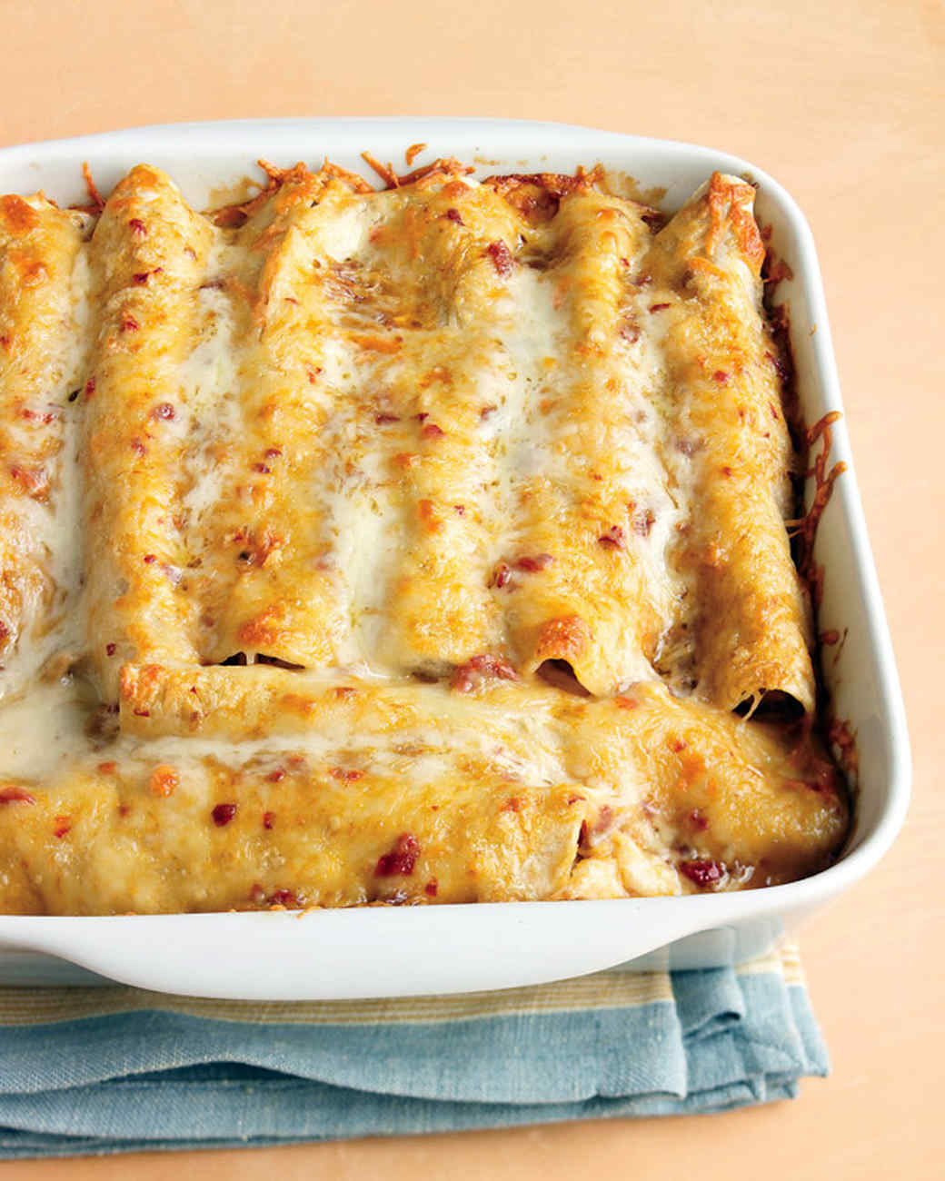 Lighter Chicken Enchiladas Recipe & Video | Martha Stewart