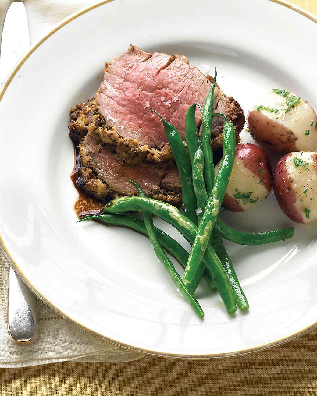 Beef Tenderloin with Fresh Herbs and Horseradish
