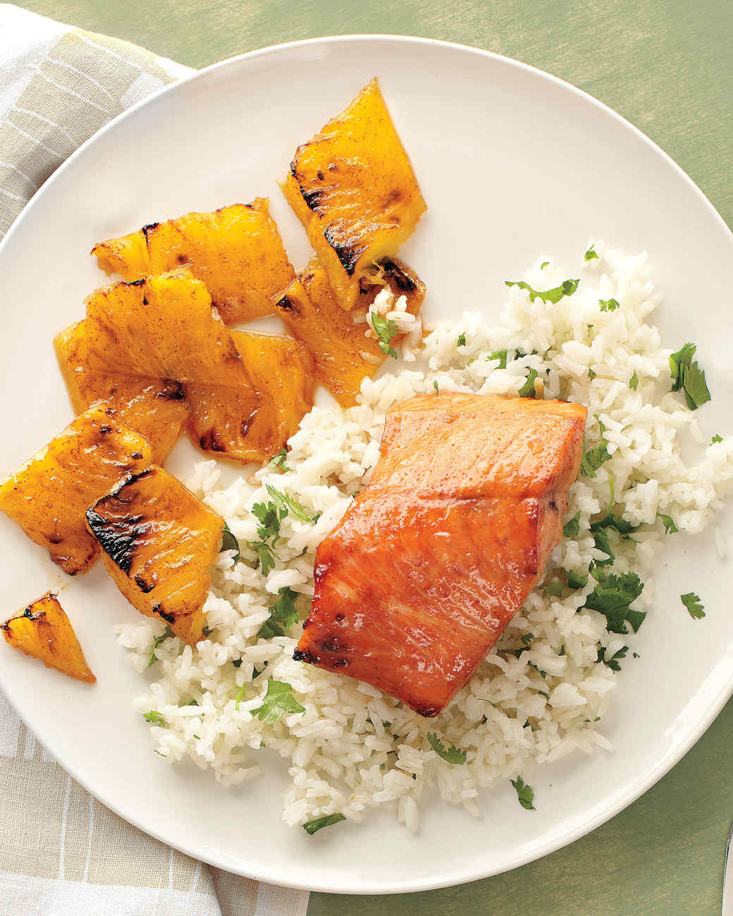 Broiled Sweet-and-Spicy Salmon with Pineapple Recipe | Martha Stewart