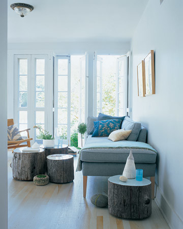 martha stewart living room.  Tree Table Martha Stewart