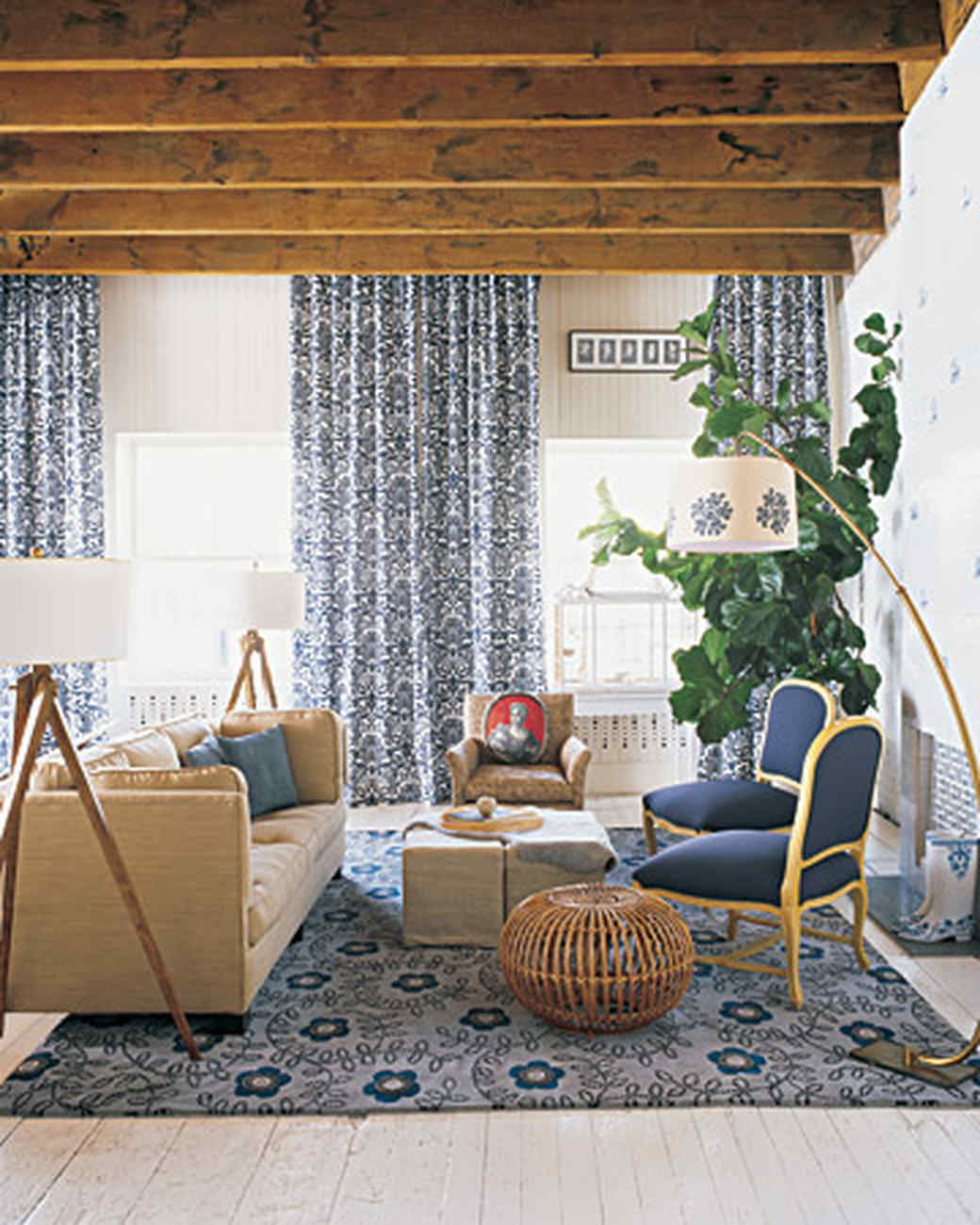 Blue Rooms | Martha Stewart for Blue And White Curtains For Living Room  lp00lyp