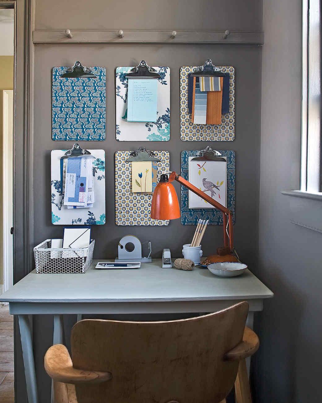 Small desks home 5 Small Spaces Martha Stewart Office Organization Ideas For Disasterzone Desks Martha Stewart