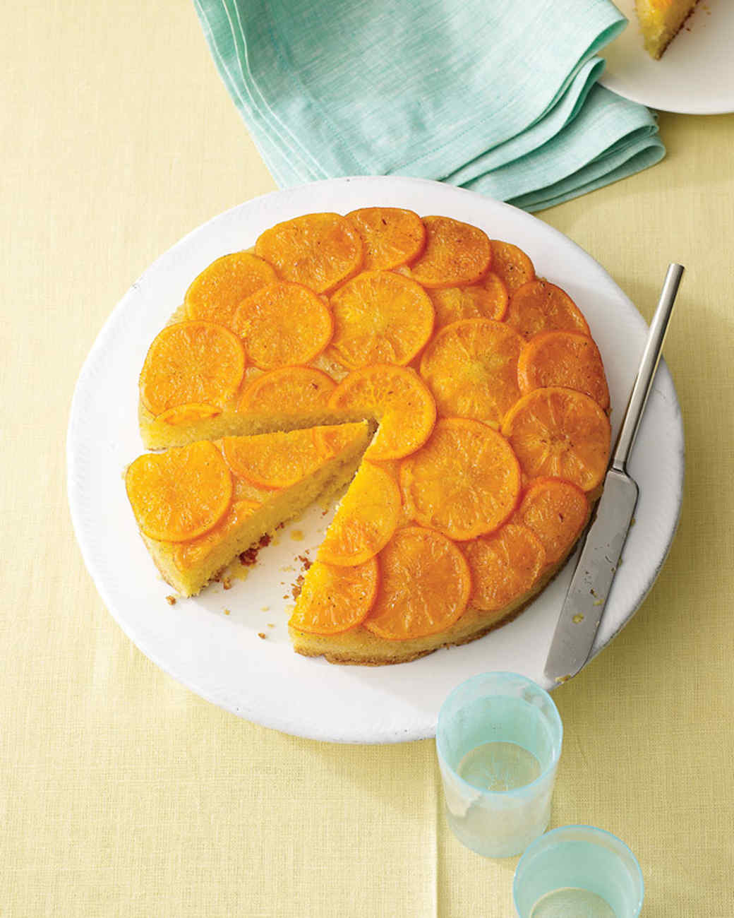 Satsuma Mandarin and Vanilla Upside-Down Cake