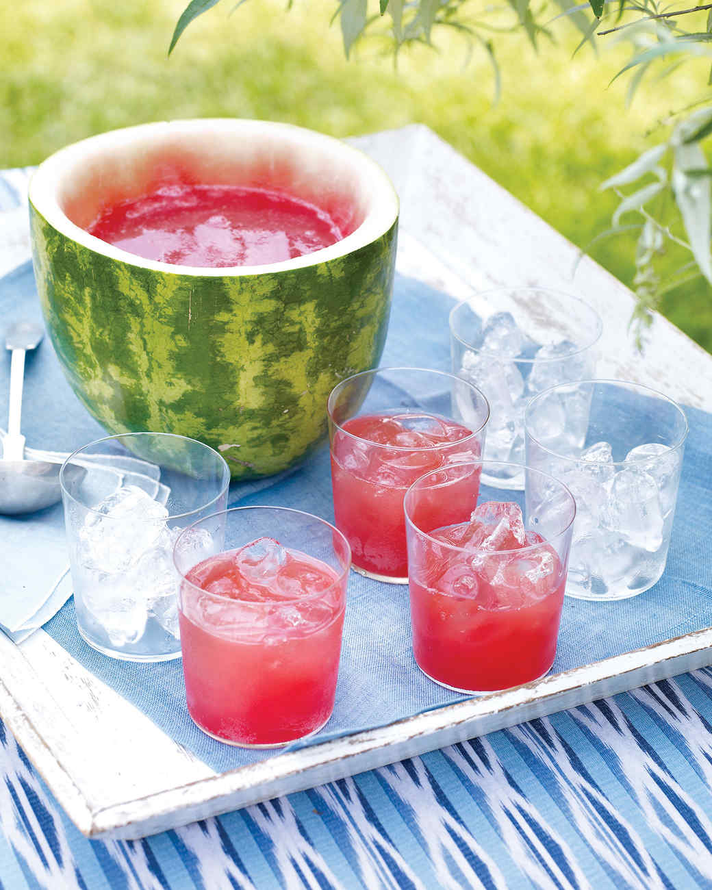 Watermelon Punch and Bowl Recipe | Martha Stewart