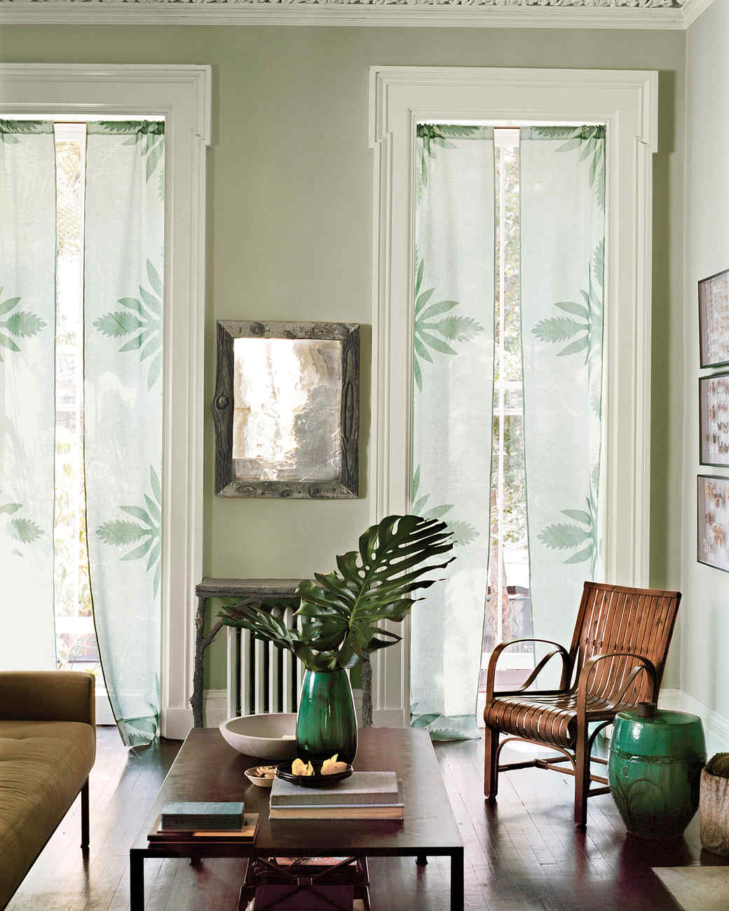 No Sew Applique Curtains With Ginger Flower Print Martha