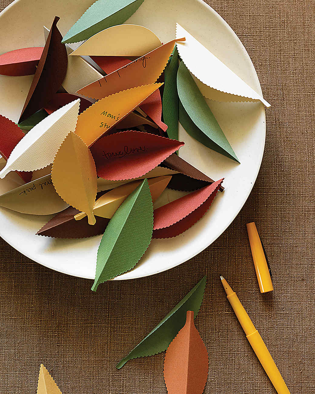 Paper Leaves of Thanks
