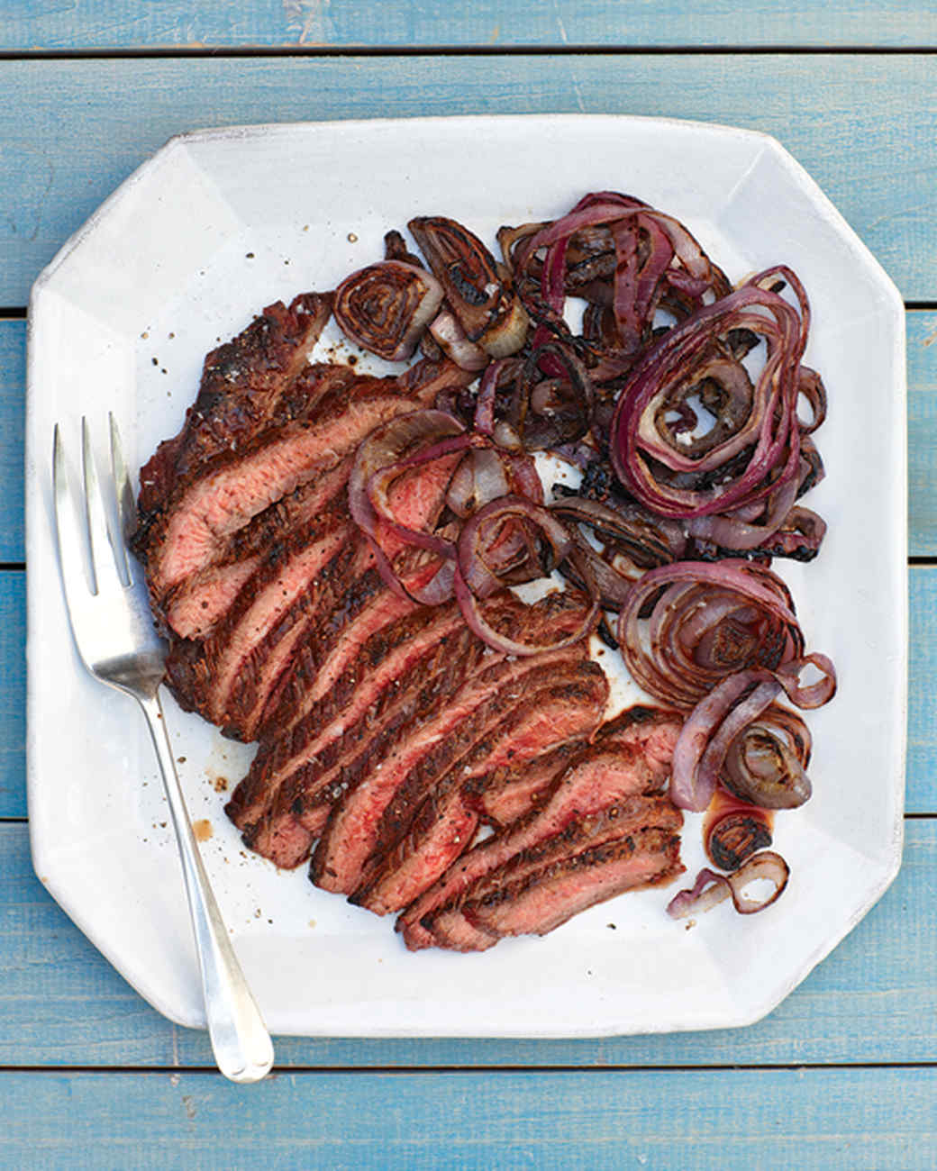 Flank Steak and Red Onion