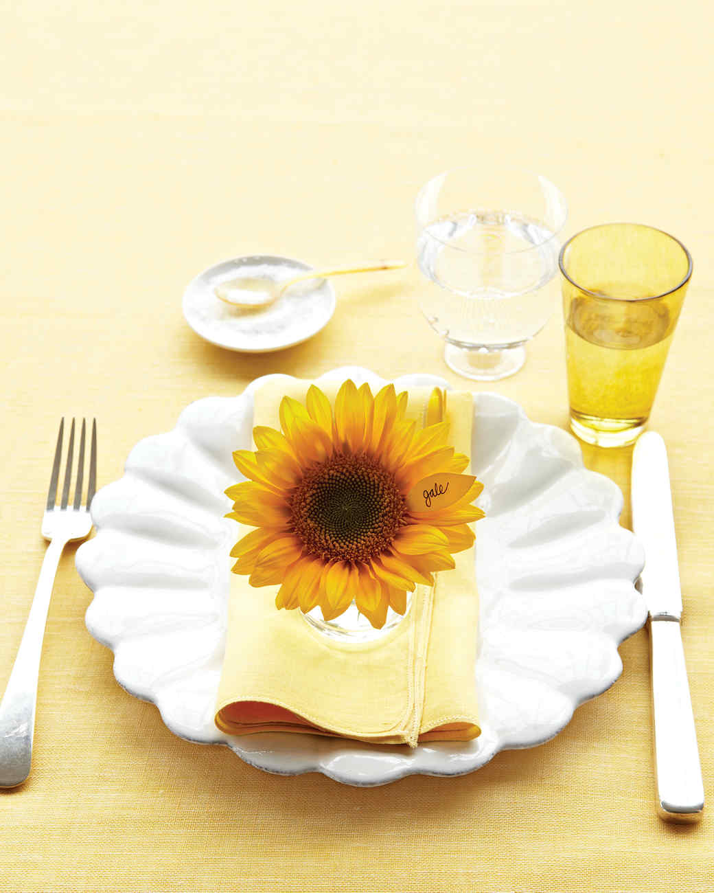 Sunflower Place Card