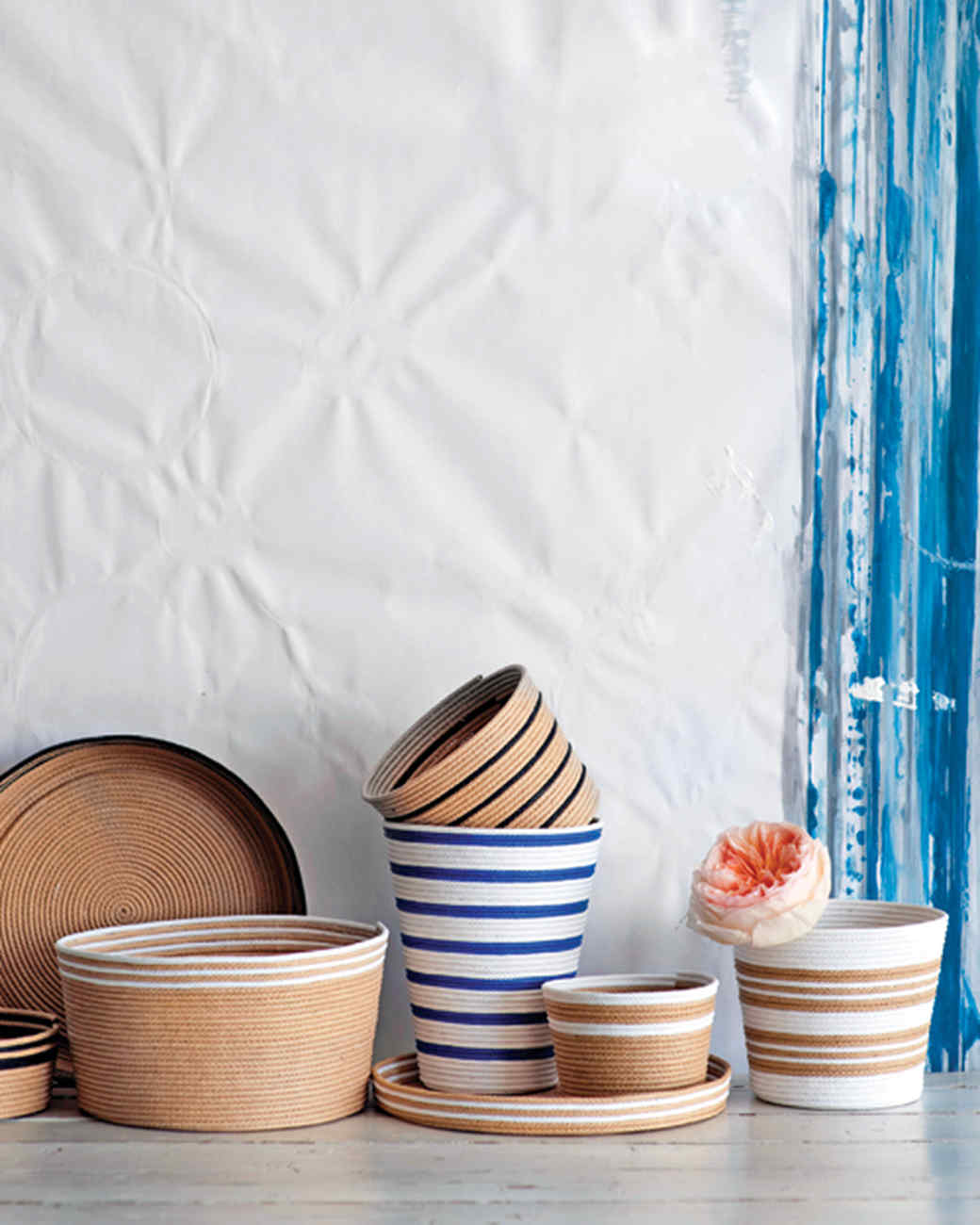 Striped Rope Baskets