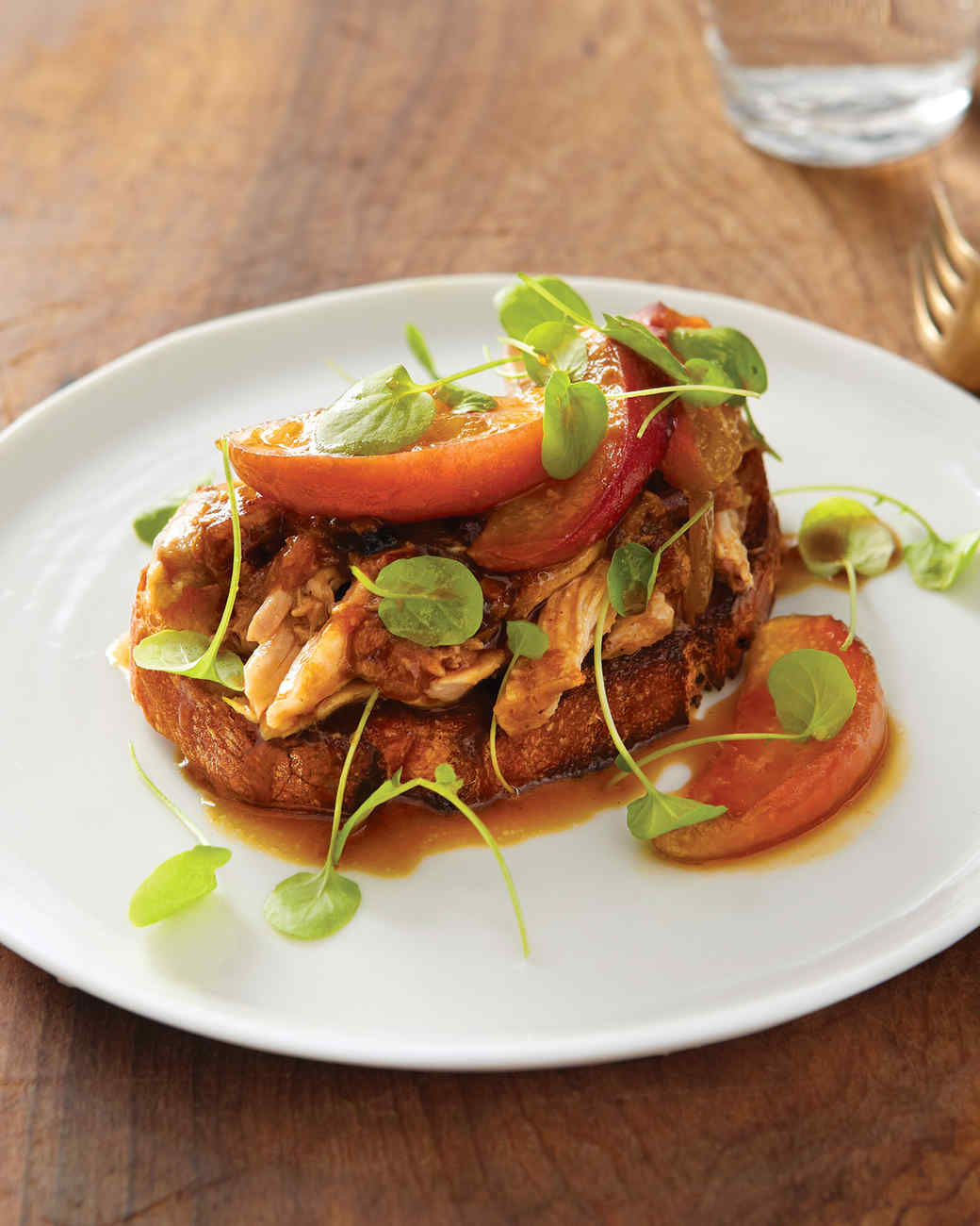 Open-Faced Porchetta Sandwich with Caramelized Apples