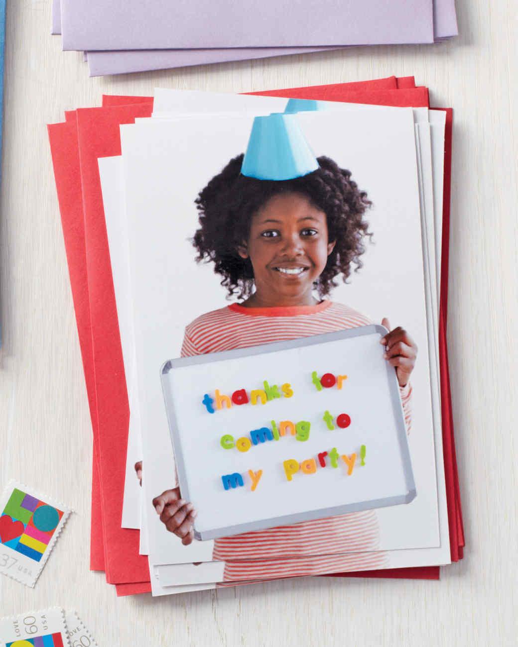 Kids Alphabet Magnet Thank You Card Martha Stewart