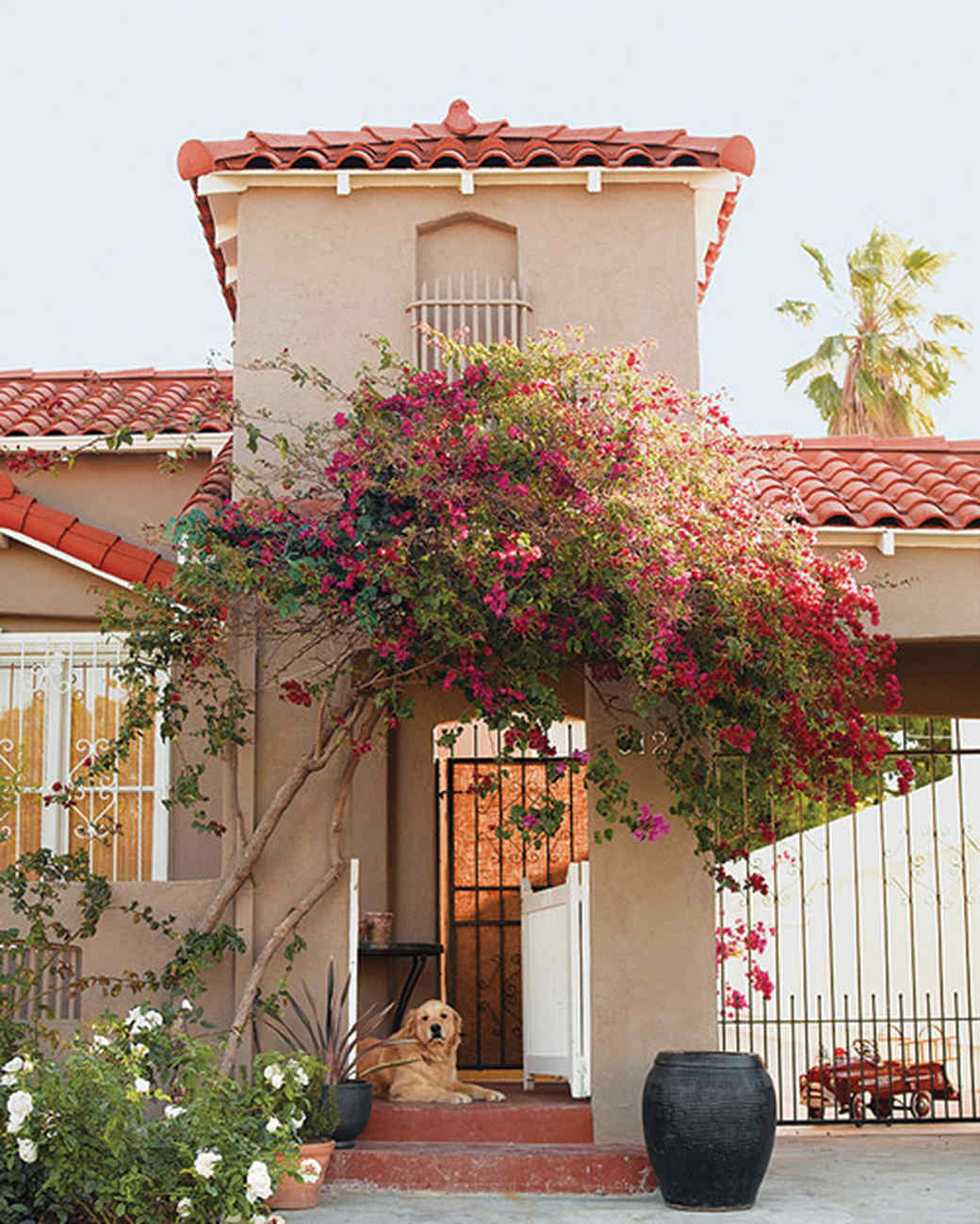 L A Houses: Home Tour: Spanish-Style Home