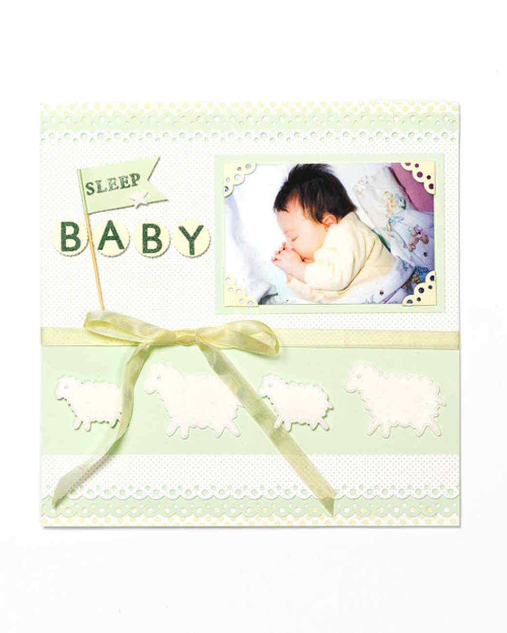 Sleep Baby Scrapbook Page