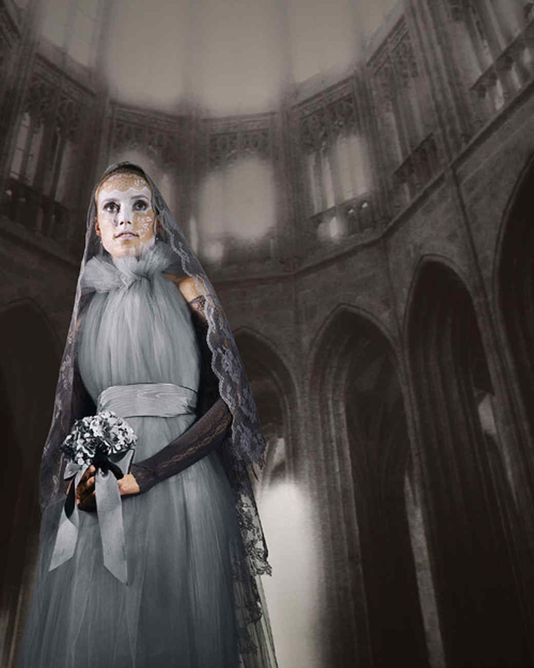 Gray Lady Ghost Costume  sc 1 st  Martha Stewart : ghost cape costume  - Germanpascual.Com