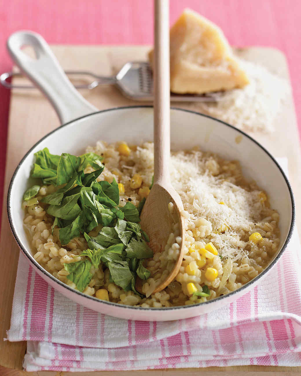 Barley Risotto with Corn and Basil