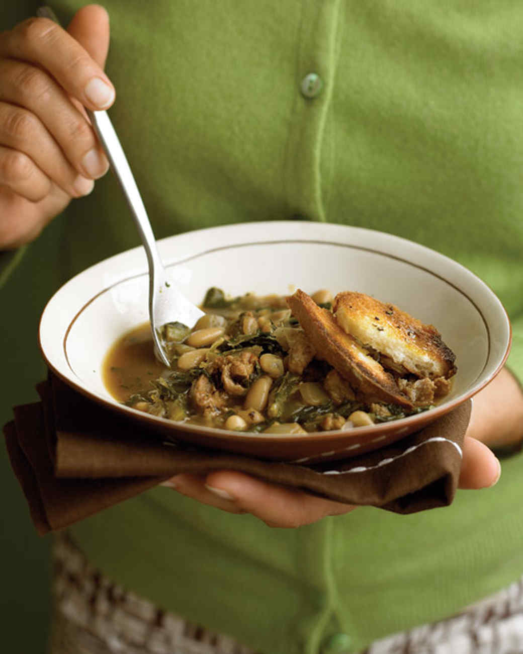 White Bean Soup with Sausage and Collards