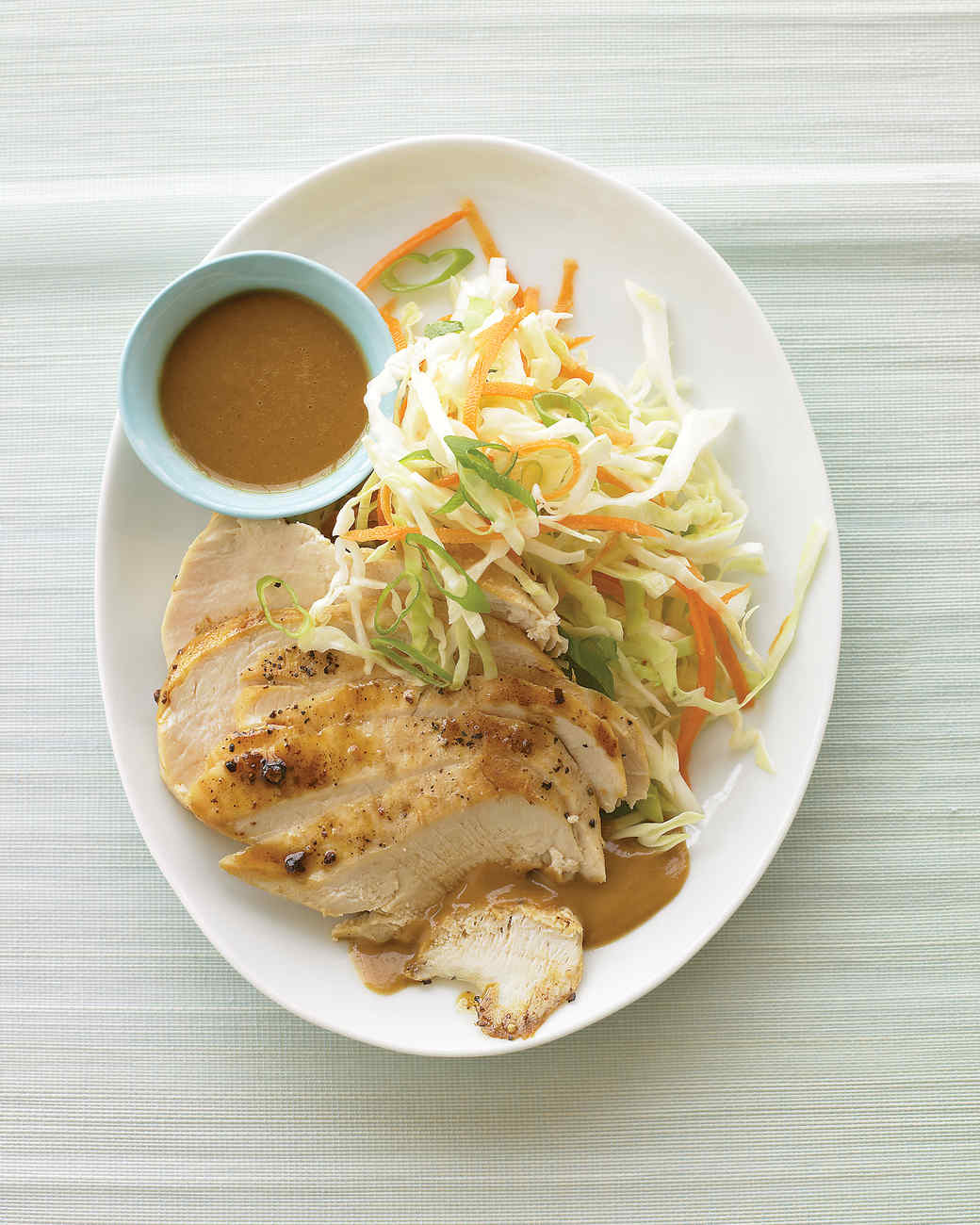Peanut Chicken with Cabbage Slaw