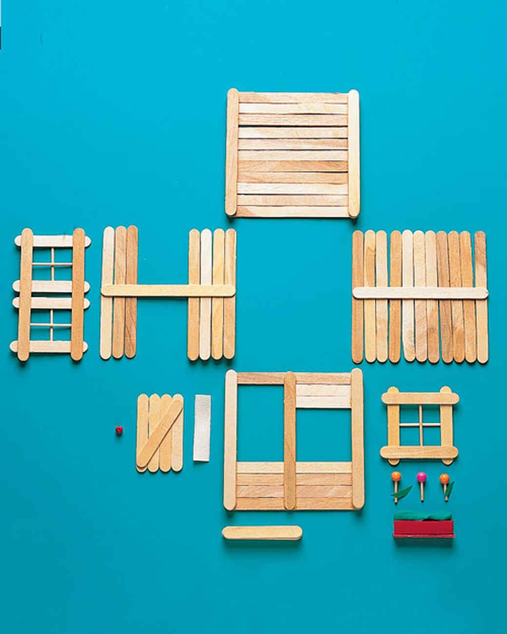 Popsicle Stick House | Martha Stewart