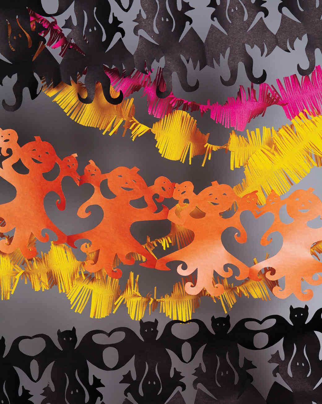 paper banner garland & Halloween Decorating Ideas