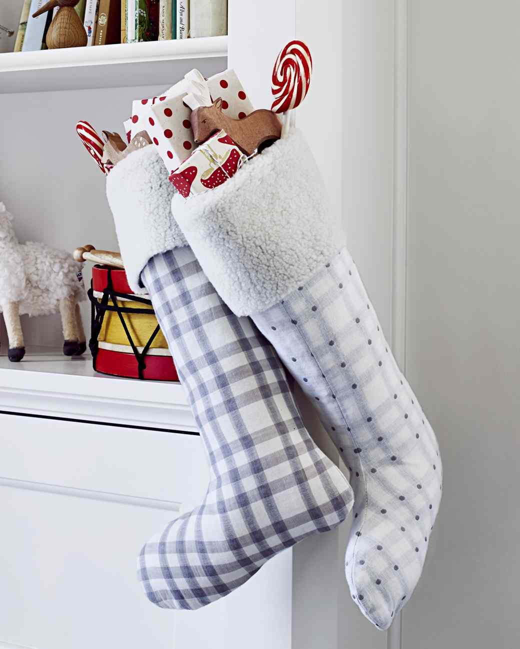 photography - Plaid Christmas Stockings