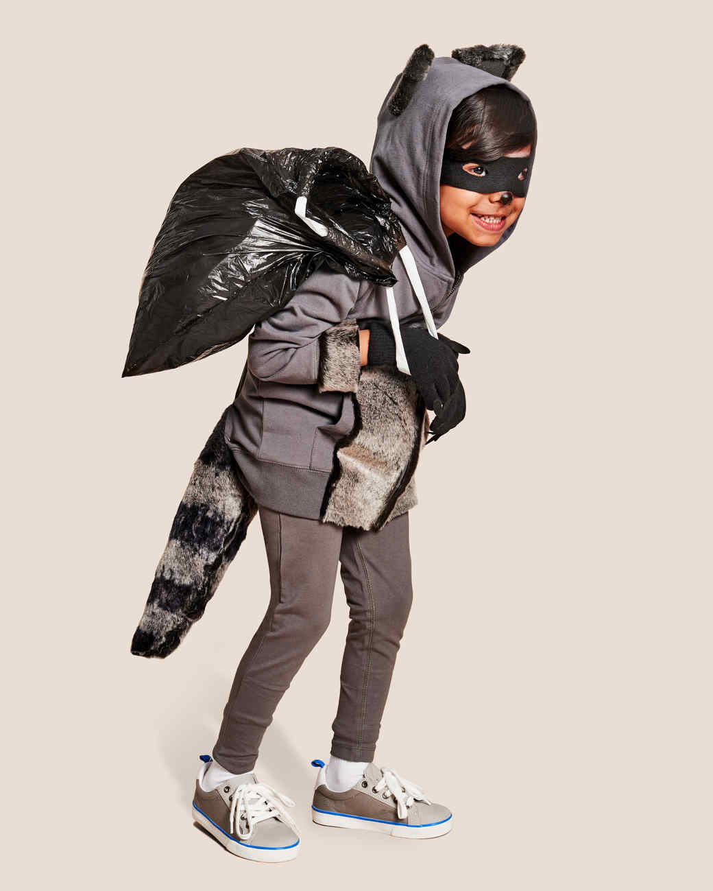 kid raccoon costume