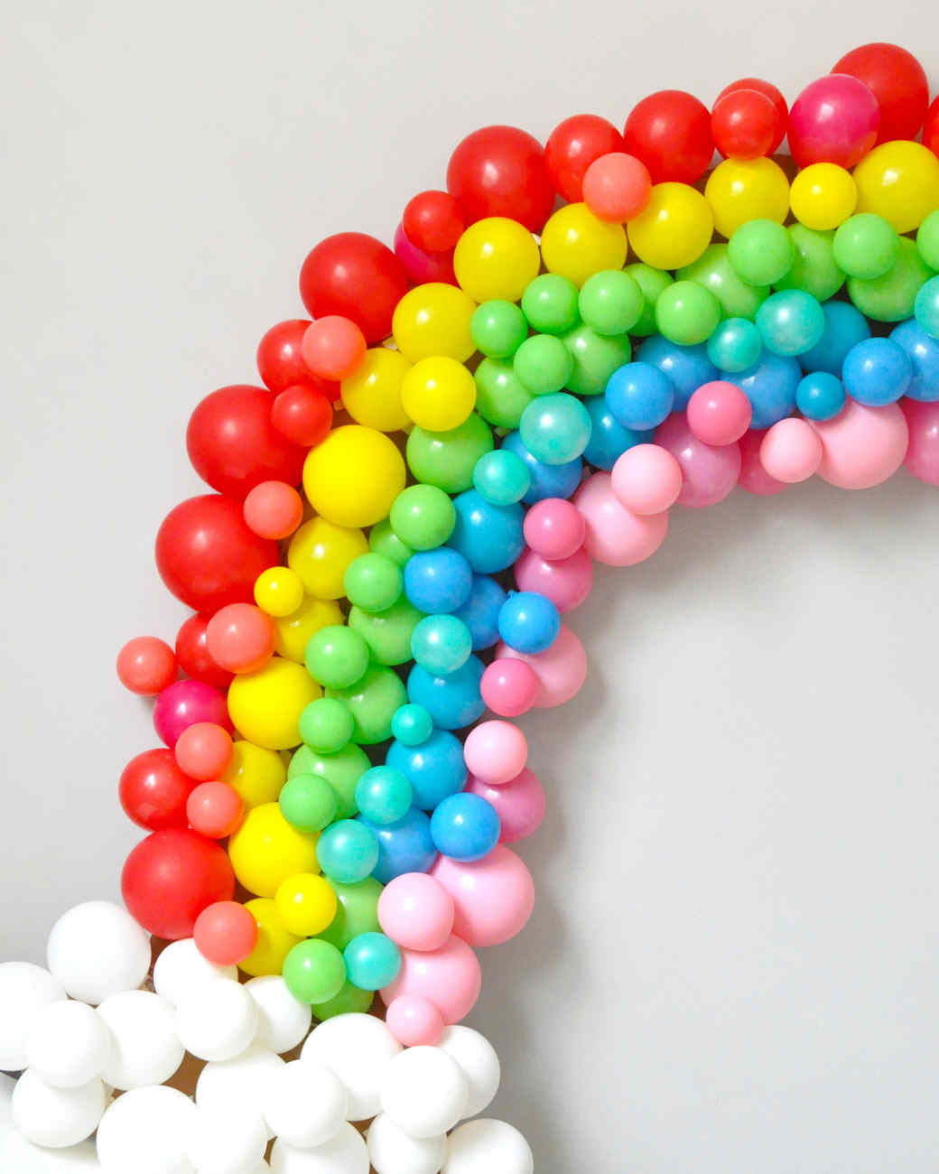 balloon rainbow arch craft