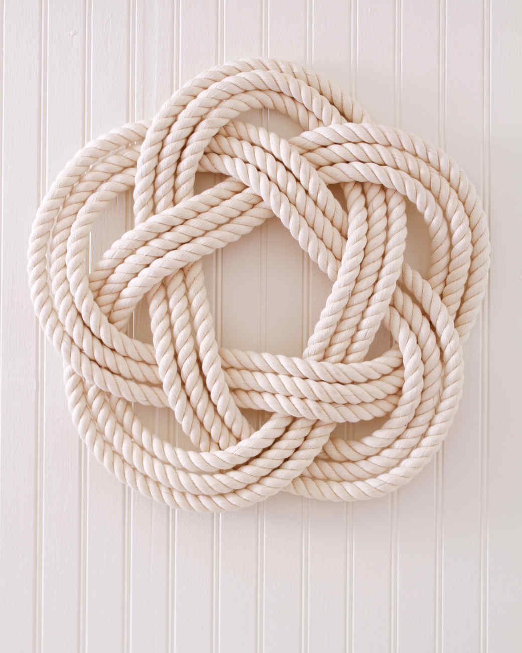 sailor's knot wreath