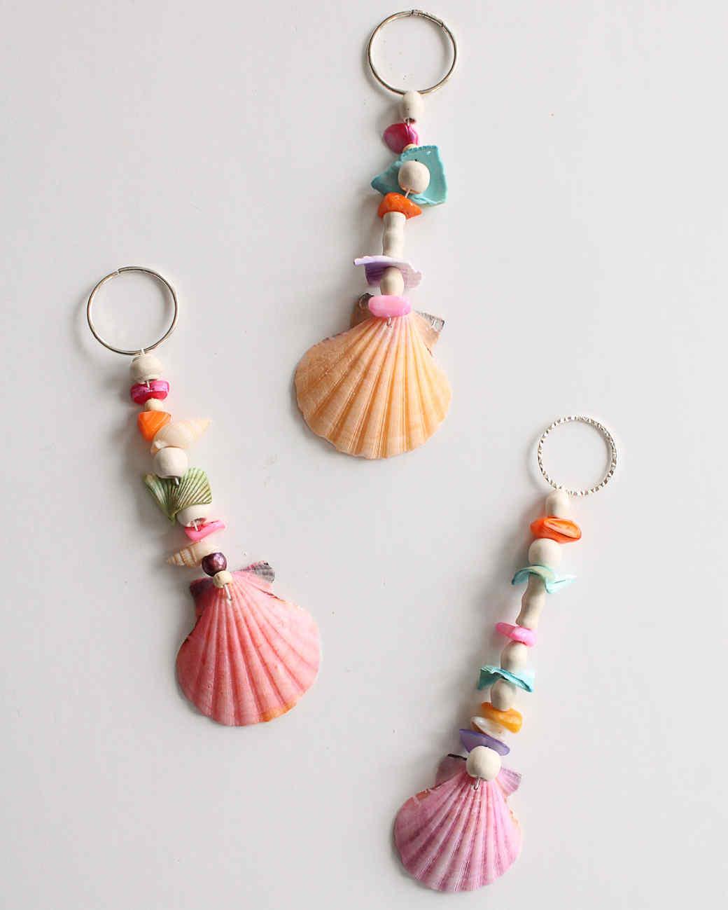 seashell keychains