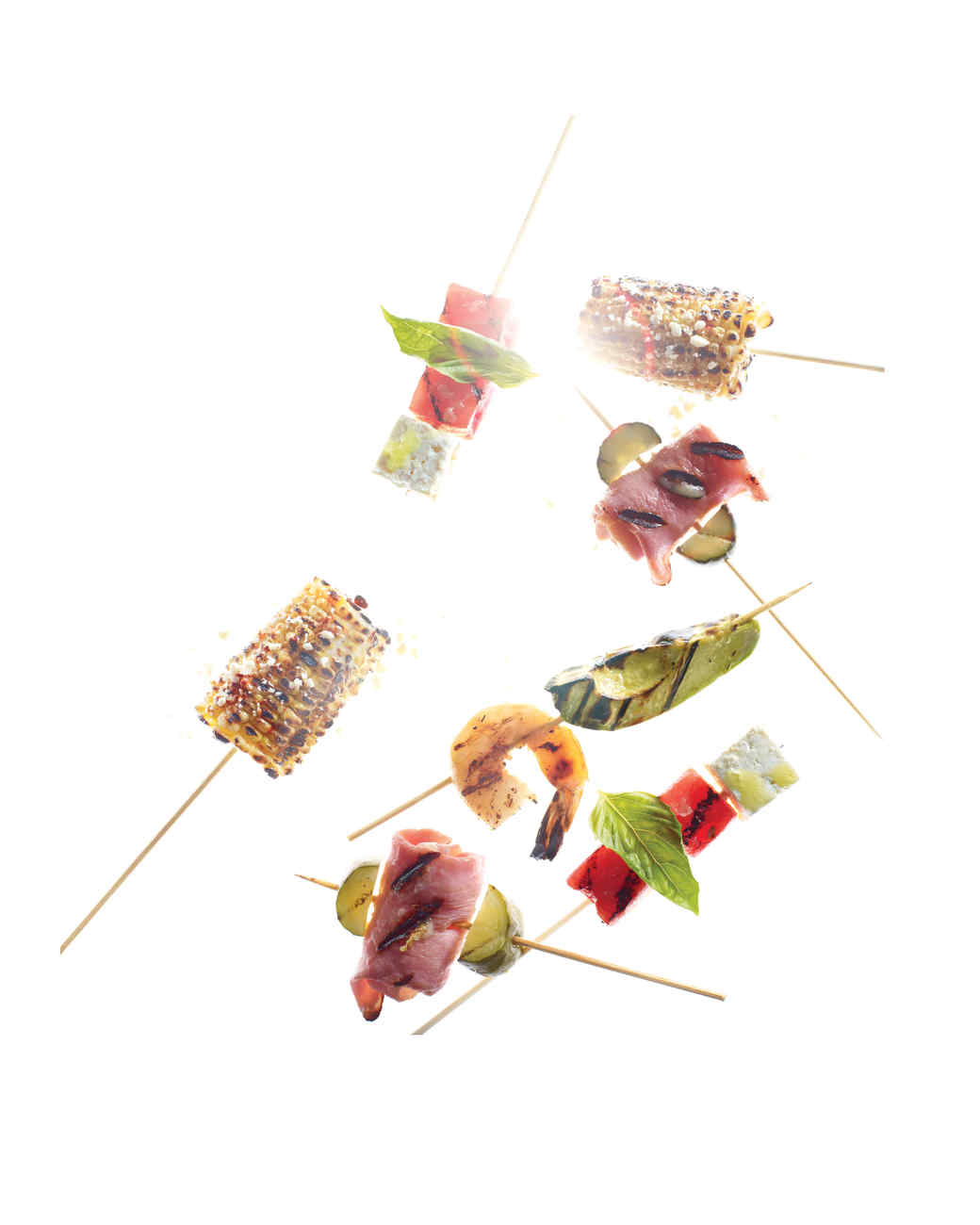 Corn and Cotija Cheese Skewers