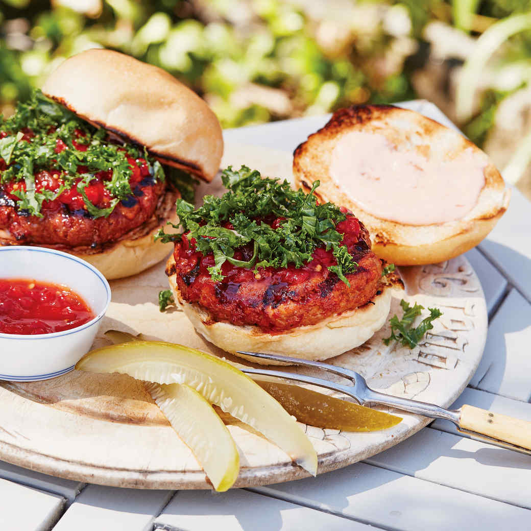 Turkey-Meatloaf Burgers