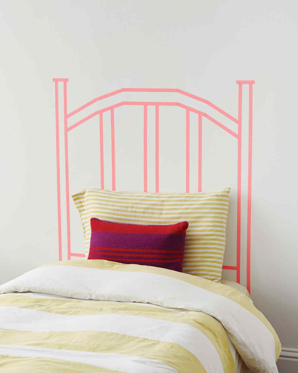 Washi Tape DIY Faux Headboard