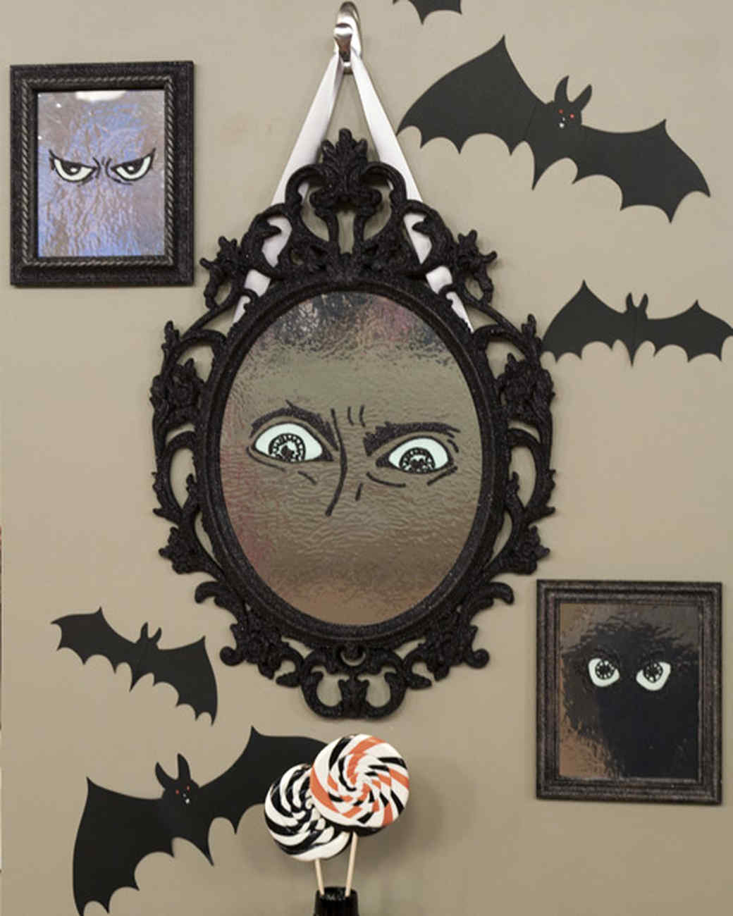 mirror with glowing eyes - Halloween Decorations Martha Stewart