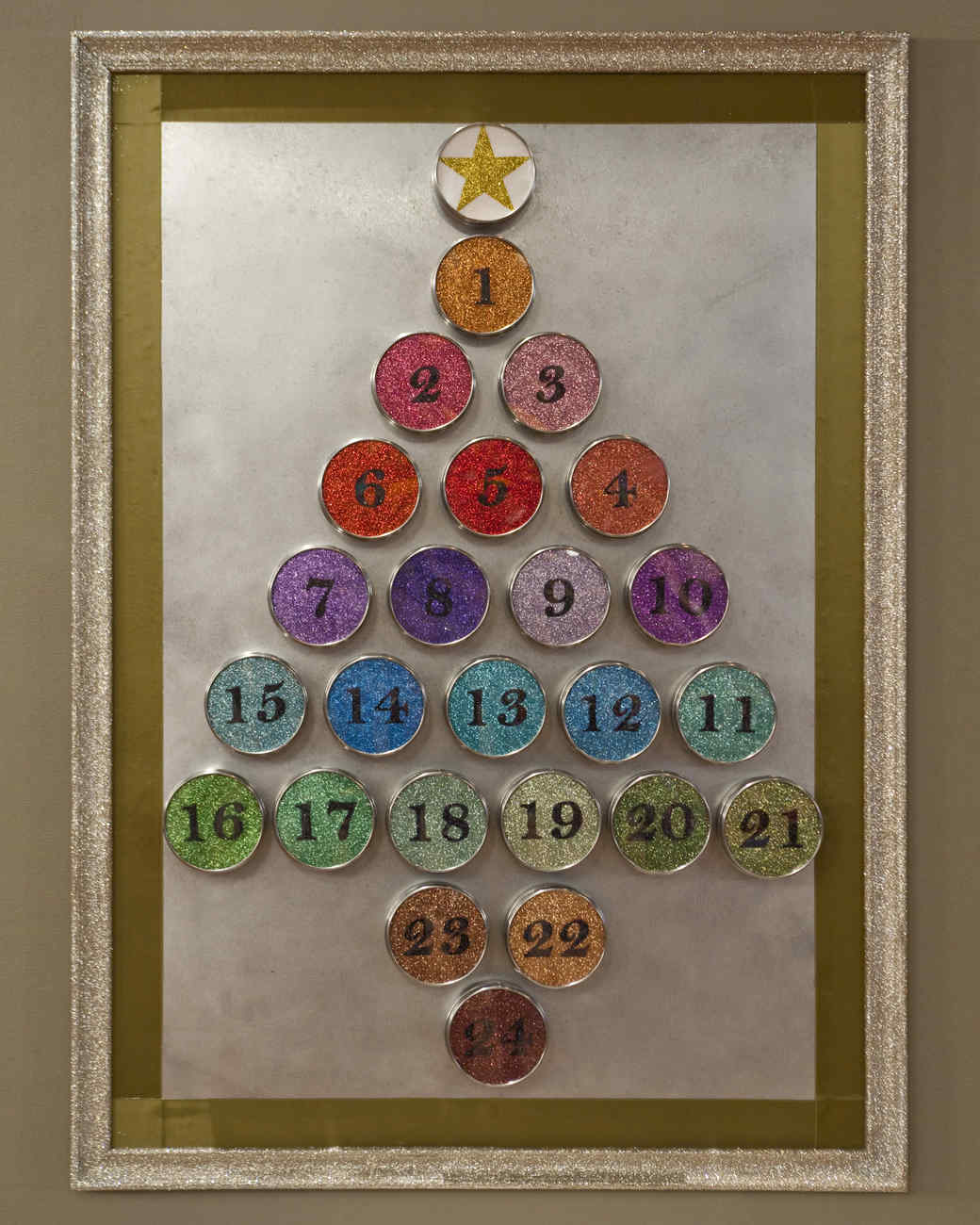 Glittered Magnetic Advent Calendar