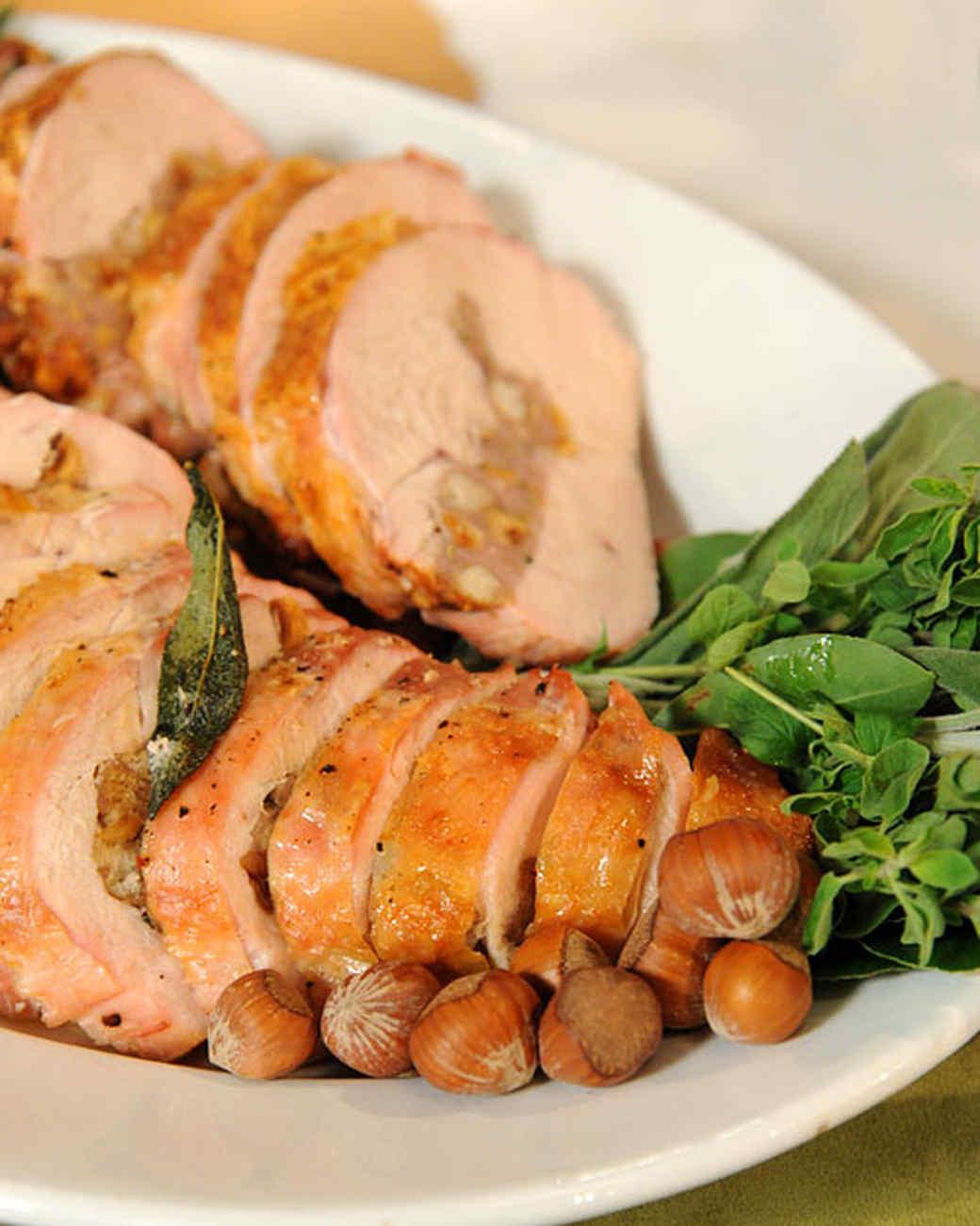 Sweet Sausage, Sage, and Hazelnut-Stuffed Turkey Breast